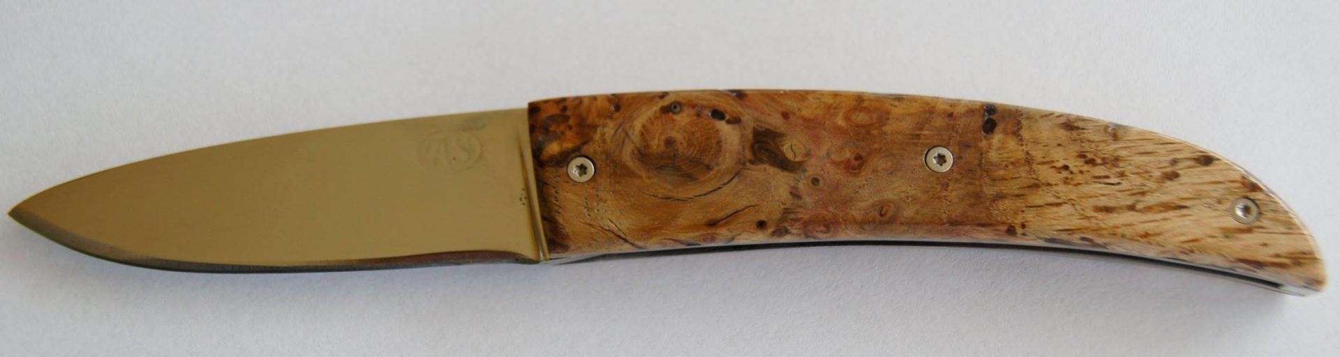 Cran plat loupe de chêne platine z20 lame inox